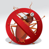 Stop cockroach sign Royalty Free Stock Image