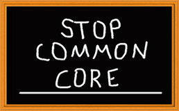 Stop Common Core on Chalkboard royalty free illustration