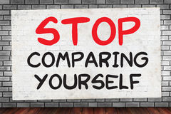 STOP COMPARING YOURSELF Stock Image
