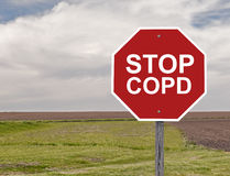 Stop COPD. Stop Sign For Awareness Of COPD Stock Image