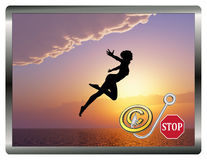 Stop Copyright Infringement Concept Royalty Free Stock Images