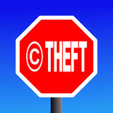 Stop Copyright theft sign Royalty Free Stock Photos