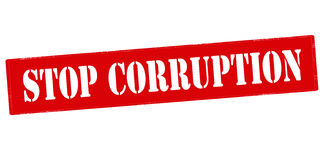 Stop corruption Stock Photography