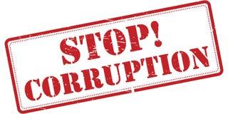 Stop corruption sign royalty free illustration