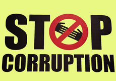 Stop corruption symbol Stock Image