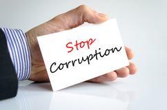 Stop corruption text concept Stock Photo