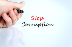 Stop corruption text concept Royalty Free Stock Photography