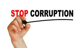 Stop corruption Royalty Free Stock Image