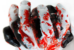 Stop Crime. Black and white colored hands: symbolizing Anger, wildness,savageness,crime, murder ,  etc Stock Images