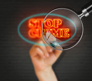 Stop Crime Stock Photo