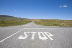 Stop crossroads nobody Royalty Free Stock Photo