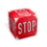Stop cube Royalty Free Stock Images