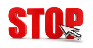 Stop and cursor (clipping path included) royalty free illustration