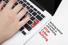 Stop cyber bullying conceptual idea Royalty Free Stock Image