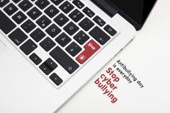 Stop cyber bullying conceptual idea Royalty Free Stock Photos