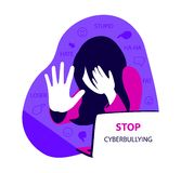 Stop cyberbullying concept vector illustration