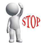 Stop. 3d people - human character , person Feel stop concept . 3d render Stock Photo