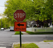 Stop and Detour Stock Photo