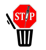 Stop disposing Syringes in the Trash Royalty Free Stock Photo