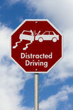 Stop Distracted Driving Road Sign Royalty Free Stock Images