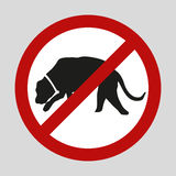Stop dogs and no dogs vector sign eps10 Royalty Free Stock Photo