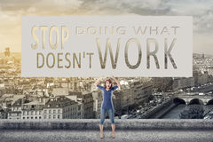 Stop doing what doesn& x27;t work Royalty Free Stock Image