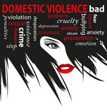 Stop domestic violence. Against women Royalty Free Stock Image