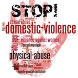 Stop domestic violence against women stock images