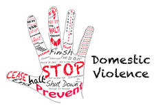 Stop Domestic Violence Stock Photography