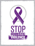 Stop Domestic Violence Stamp. Creative Social Vector Design Element Concept.  Stock Photos