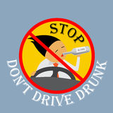 Stop don't drive drunk. Royalty Free Stock Images