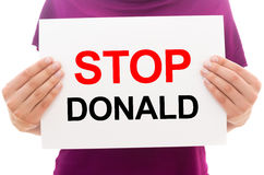 Stop Donald Stock Photo