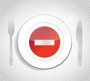Stop dont eat concept illustration design Stock Photography