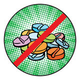 Stop doping sign icon Royalty Free Stock Images
