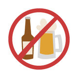 Stop drink vector illustration. Royalty Free Stock Image