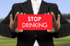 Stop drinking Royalty Free Stock Image