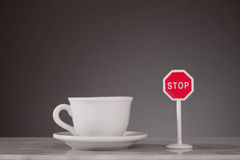 Stop drinking coffee Stock Image