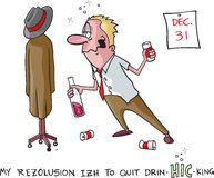 Stop drinking resolution Stock Photo