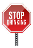 Stop drinking sign Royalty Free Stock Images
