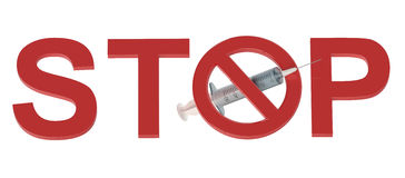 Stop Drugs concept Royalty Free Stock Photo