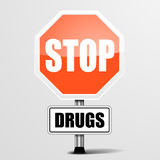 Stop Drugs Royalty Free Stock Photos