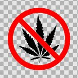 Stop drugs prohibiting logo royalty free illustration