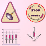 Stop drugs, vector infosraphic Stock Photo