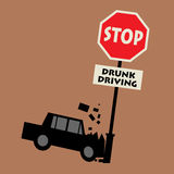 Stop drunk driving Royalty Free Stock Photography