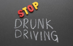Stop drunk driving Stock Photos