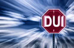 Stop DUI Royalty Free Stock Photos