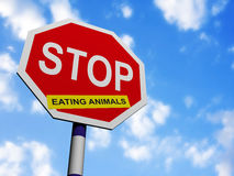 Stop eating animals Royalty Free Stock Photo
