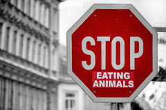 Stop Eating Animals Royalty Free Stock Photography