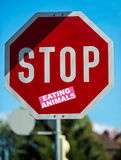 Stop eating animals Stock Images