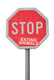 Stop eating animals sign Royalty Free Stock Photos